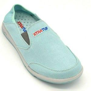 XtraTuf Womens Canvas Yellowtail Flat Shoe 7 New